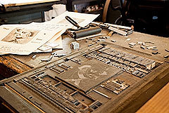 Photo: Typeset for a Printing Press