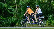 Photo: Two on a Tandem Bicycle
