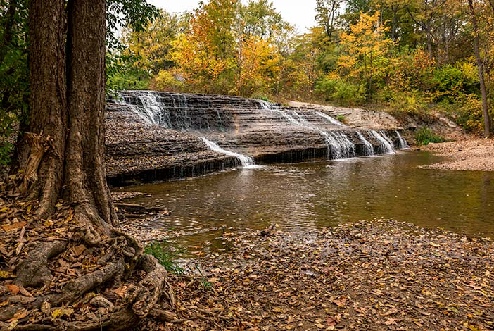 Photo: Thistlethwaite Falls in Richmond, Indiana.
