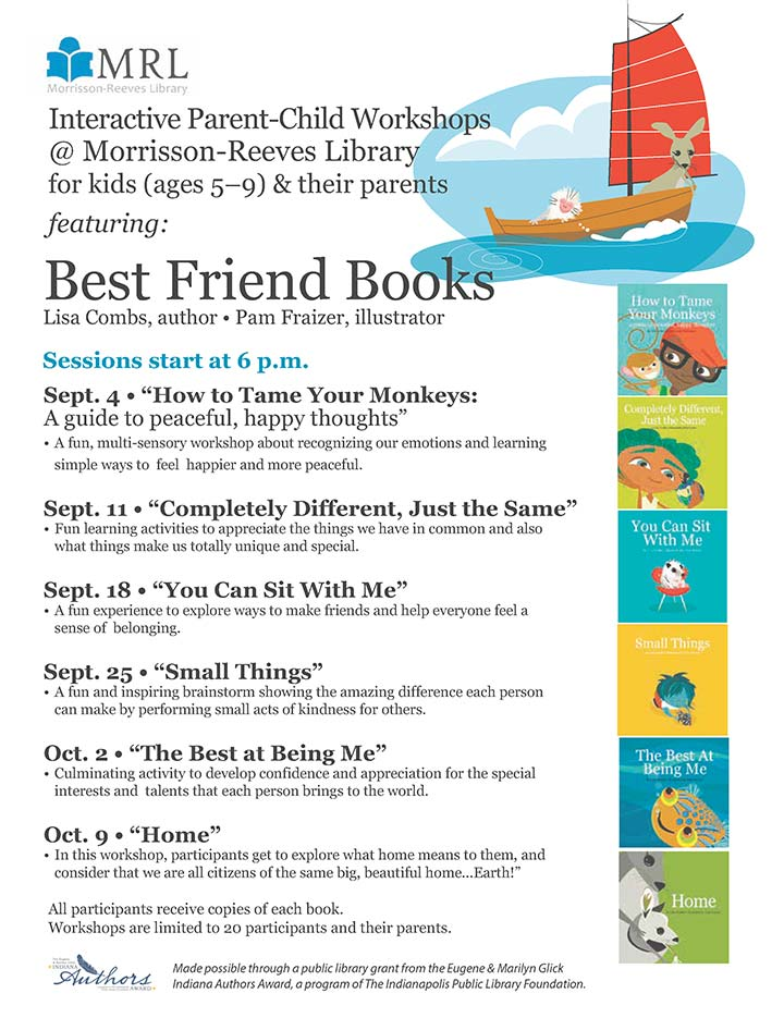 Supplied Flyer: Best Friends Books Workshops
