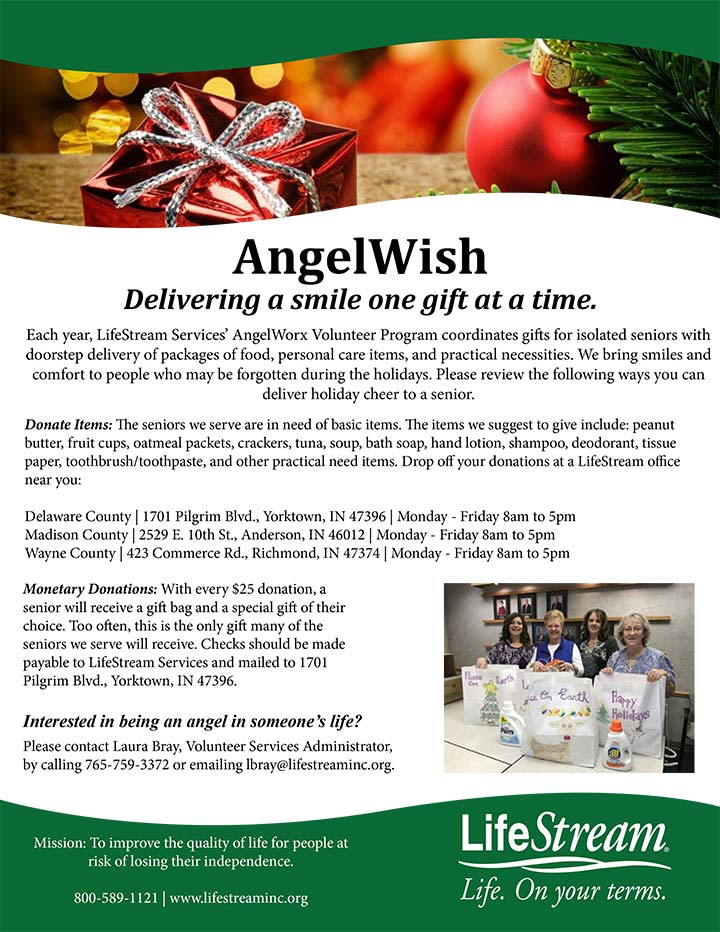 Supplied Flyer: AngelWish
