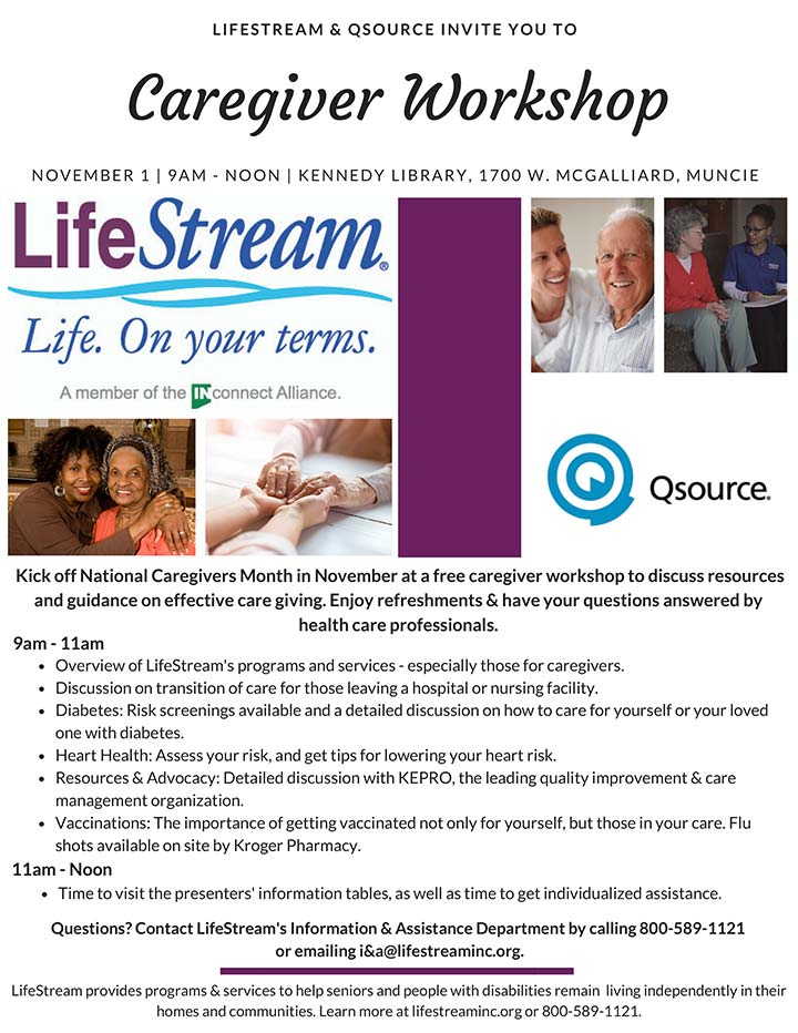Supplied Flyer: Lifestream Workshop