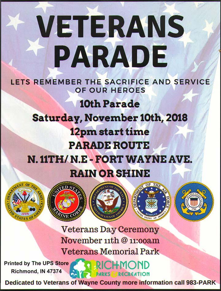 Supplied Flyer: Veterans Parade