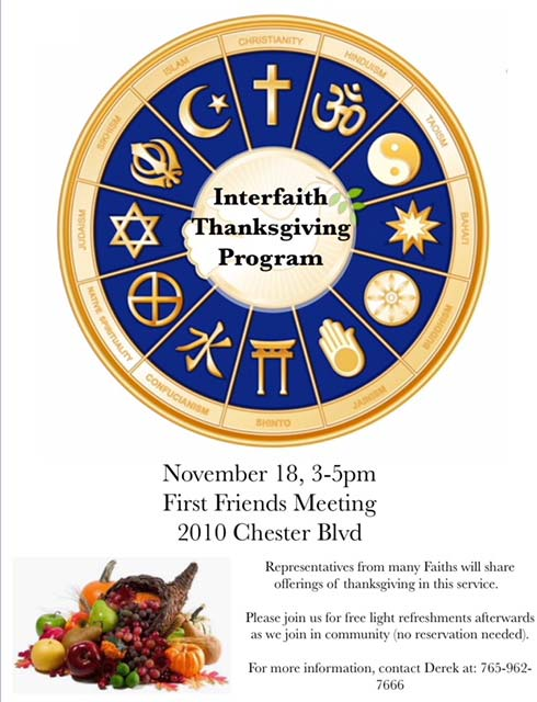 Supplied Flier: Interfaith Service