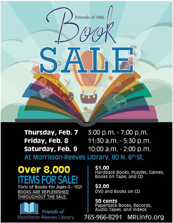 Supplied Flyer: February 2019 Book Sale at MRL