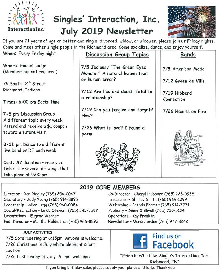Supplied Flyer: July 2019