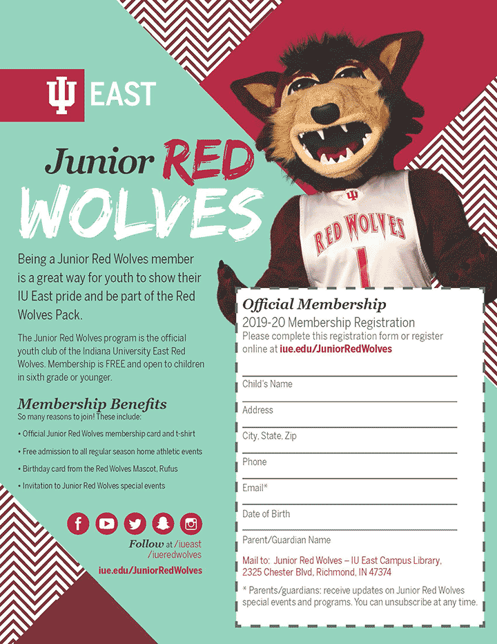 Supplied Flyer: Junior Red Wolves