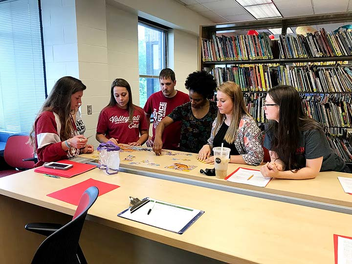 Supplied Photo: IU East Students in Tutor Training