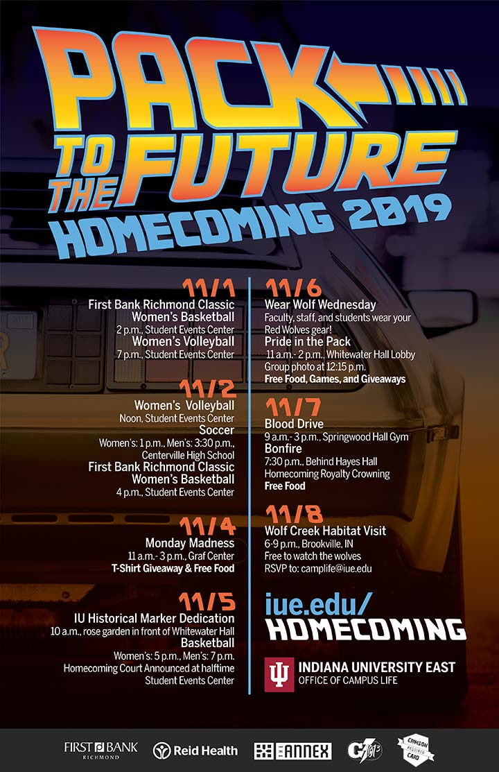 Supplied Poster 2019 IU East Homecoming