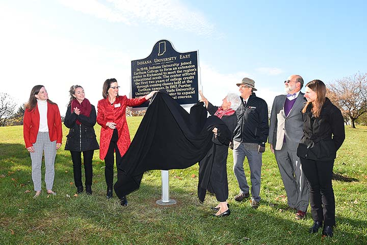 Supplied Photo: IU East also dedicated a State Historic Marker in front of Whitewater Hall on November 5.
