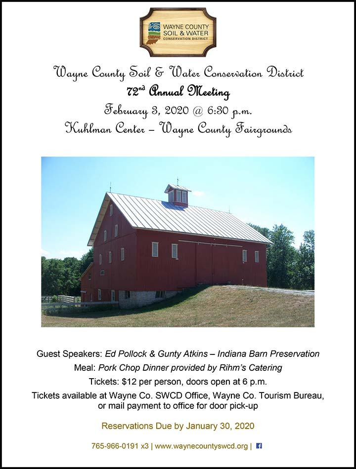 Supplied Flyer: Wayne County Soil & Water District 72nd Annual Meeting