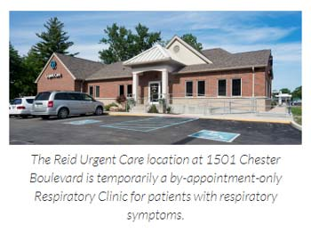 Supplied Photo: The Reid Urgent Care location at 1501 Chester Blvd is temporarily a by-appointment-only Respiratory Clinic for patients with respiratory symptoms.