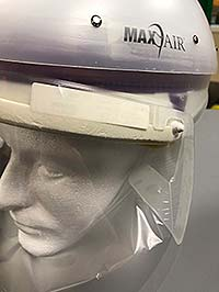 Supplied Photo: Reid's original equipment and mask