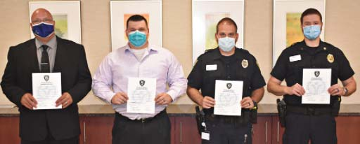 Supplied Photo: From left: Sgt. Brian Jackson, Officer Mike Hurst, Officer Ryan Gerber and Sgt. Brian Bolin.