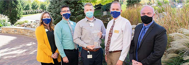 Supplied Photo: From left, Misti Foust-Cofield, Vice President/Chief Nursing Officer; Jared Dunlap, Director, Inpatient Nursing; Tyler Evans, Director, Cardiac Service Line; Craig Kinyon, President/CEO; and Alex Van Zant, VisionFirst