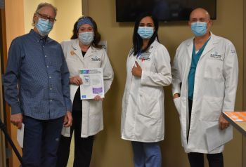 Supplied Photo:  Dr. David Jetmore (from left), Dr. Jennifer Bales, Dr. Annuradha Bhandari and Dr. Thomas Huth were the first to receive the COVID-19 vaccine at Reid Health.
