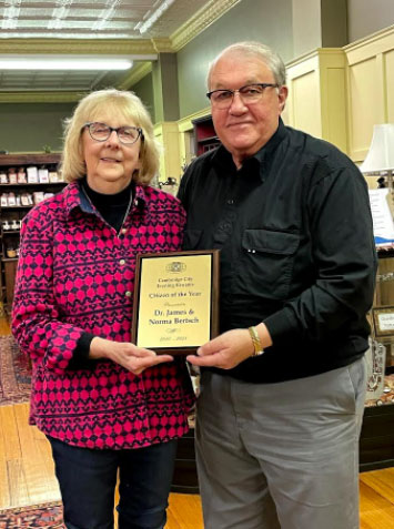 Supplied Photo: Dr. James and Norma Bertsch