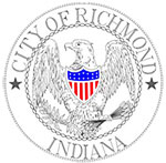 "Seal: City of Richmod - Eagle surrounded by ""City of Richmond"""