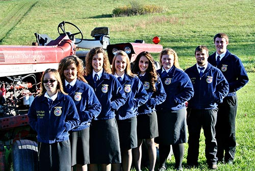 2011-2012 Hagerstown FFA Officers